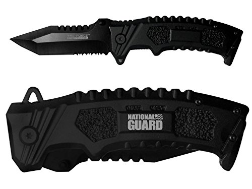 Tac-Force 4'' Spring Assisted Knife TF794T NDZ National Guard Text Logo
