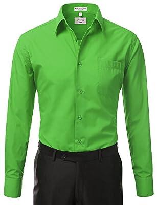 IDARBI Men's Classic French Convertible Cuff Button Up Regular-fit Dress Shirt