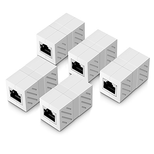 UGREEN Adaptador RJ45 para Cable de Red Ethernet Cat6 RJ45 Acoplador gigabit Hembra a Hembra (5 Pack, Blanco): Amazon.es: Informática