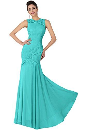 sunvary elegante Corpiño de volantes Evening Prom drsses Scoop dama Bata Hunter Verde