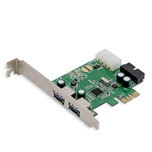 "Syba CL-HUB20113 2 Port USB 3.0 3.5/"" Drive Bay with 19 pin header"