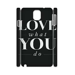 LSQDIY(R) love what you do Samsung Galaxy Note 3 N9000 Hard Back 3D Case, Personalized Samsung Galaxy Note 3 N9000 3D Case love what you do