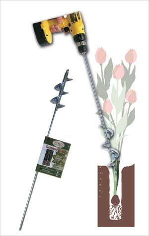 Heavy Duty Bulb and Bedding Plant Auger 28 In. Long by 2.75 In. Diam. by Better Garden Tools