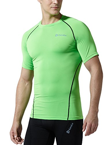 TM-R13-NEKZ_Small j-M Tesla Men's Cool Dry Compression Baselayer Short Sleeve T Shirts R13