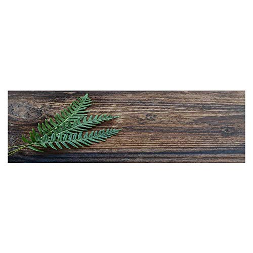 Leighhome Fish Tank Background Decor Static Image Backdrop Wallpaper Sticker Cling Decals A Fern Leaf on a Plank Wallpaper Sticker Background Decoration L29.5 x H21.6