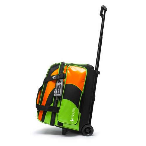 Pyramid Path Deluxe Double Roller Bowling Bag (Lime Green/Orange)