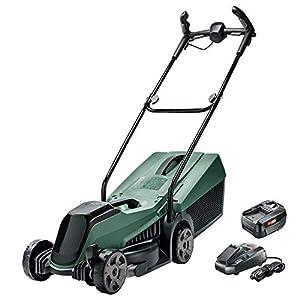 Bosch Cordless Lawnmower CityMower 18 (18 Volt, 1x battery 4.0 Ah, cutting width: 32 cm, lawns up to 300 m², in carton…