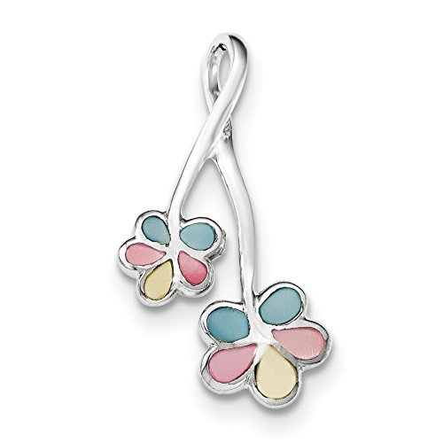 - Pendants Accessories and Fashion Charms .925 Sterling Silver Flower Shell Chain Slide Pendant