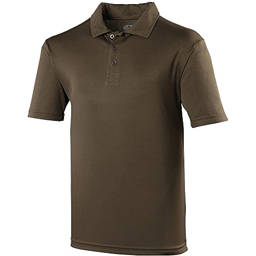 Just Cool Mens Plain Sports Polo Shirt (L (43 Inch Chest)) (Olive)