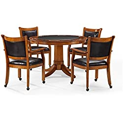 Crosley Furniture KF14002-DC Reynolds 5-Piece Game Table Set - Dutch Colonial