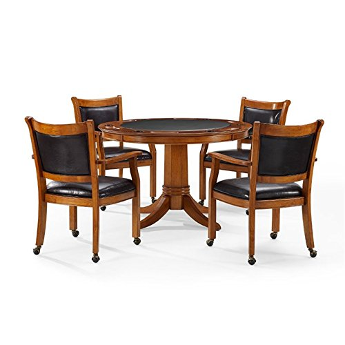 Crosley Reynolds 5 Piece Game Table Set In Dutch Colonial by Crosley Furniture