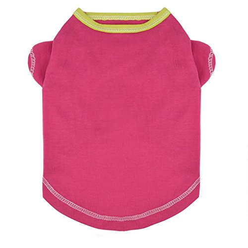 Howstar Pet Clothes for Dogs Summer Breathable Shirts Dog Cat Vest T-Shirt Puppy Apparel (S, Hot Pink)