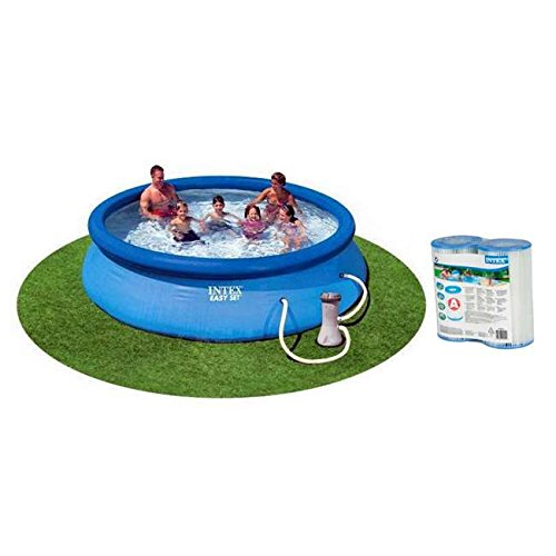 "Intex 12' x 30"" Easy Set Swimming Pool with Pump & Two Fi..."