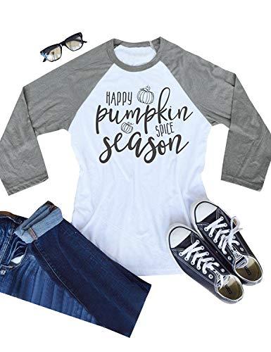 c12445459 Nlife Women Happy Pumpkin Letter Print Blouse Long Sleeve Shirt Halloween  Blouse