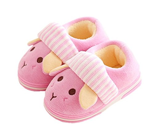 WHENOW Toddler Little Kid Paw Patrol Boys Girls Winter Warm Slippers Home Slippers Pink 7.5 M US Toddler