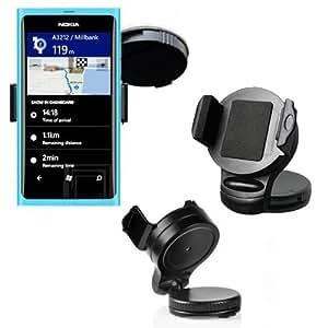 Soporte para coche para Nokia/Lumia 900/Lumia 610/Lumia 800/Lumia 710/Soporte con giro de 360° de visión sin vibraciones Schwankbar/Soporte de coche/coche/coche/soporte/soporte/Universal/Smartphone/Universal/coche/coche/camión/Original Lanboo/Producto nuevo/gastos de envío!