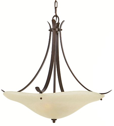 - Murray Feiss F2046/3GBZ, Morningside Large Bowl Pendant, 3 Light, 300 Total Watts, Bronze
