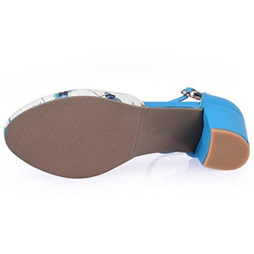 Coolcept Women Ankle Strap Court Shoes Blue U015wL