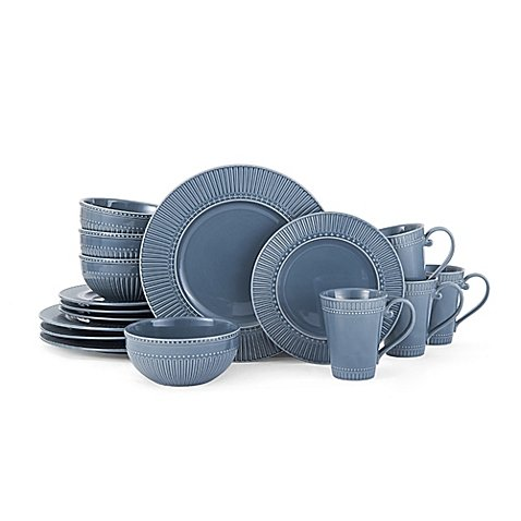 Mikasa Italian Countryside Accents Fluted 16-Piece Dinnerware Set in (Scroll 16 Piece Dinnerware Set)