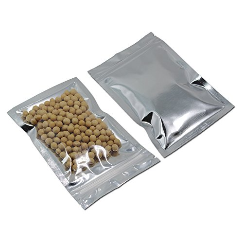 Airtight Clear Front Mylar Foil Zipper Pouches Aluminum Foil Heat Sealable Bag Resealable Function Visible Storage Smell Proof Packaging Sample Homemade Jerky Spice Food Grade Wrapping for $<!--$113.60-->