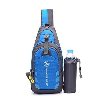 CATOP resistente al agua viajes ligero hombro mochila cruzada Sling Bag al aire libre pecho Pack para Senderismo Camping hombres y mujeres, hombre, azul: Amazon.es: Deportes y aire libre