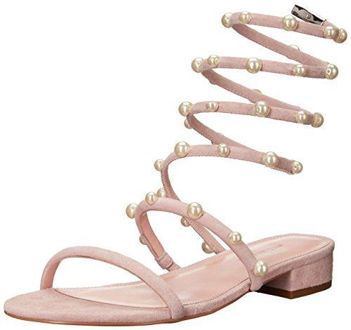 Avec Les Filles Women's Cora Flat Sandal, Pink, 8 Medium US