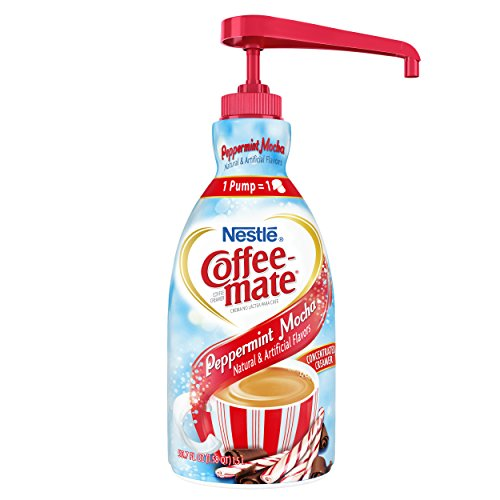 Nestle Coffee-mate Coffee Creamer, Peppermint Mocha, 1.5L liquid pump bottle, Pack of 1