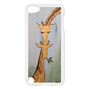 Cut giraffe series protective cover FOR Ipod Touch 5 A-giraffe-S53154