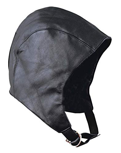 Unisex Cold weather Waterproof Real Leather Aviator Style Hat Very warm Lined inside -