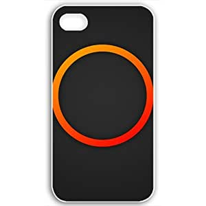 For Apple Iphone 5/5S Case Cover Customized Gifts Fors 3D Graphics Circle 3d Abstract Black