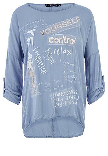 Vestino - Camiseta de manga larga - para mujer Azul