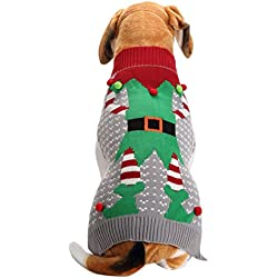 Scheppend Festive Pet Pullover Ugly Christmas Holiday Holiday Jumpers Clown Sweater for Small Dogs Cats, XL