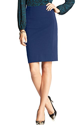 phistic Women's Harley Classic Ponte Pencil Skirt - Navy 12 by phistic