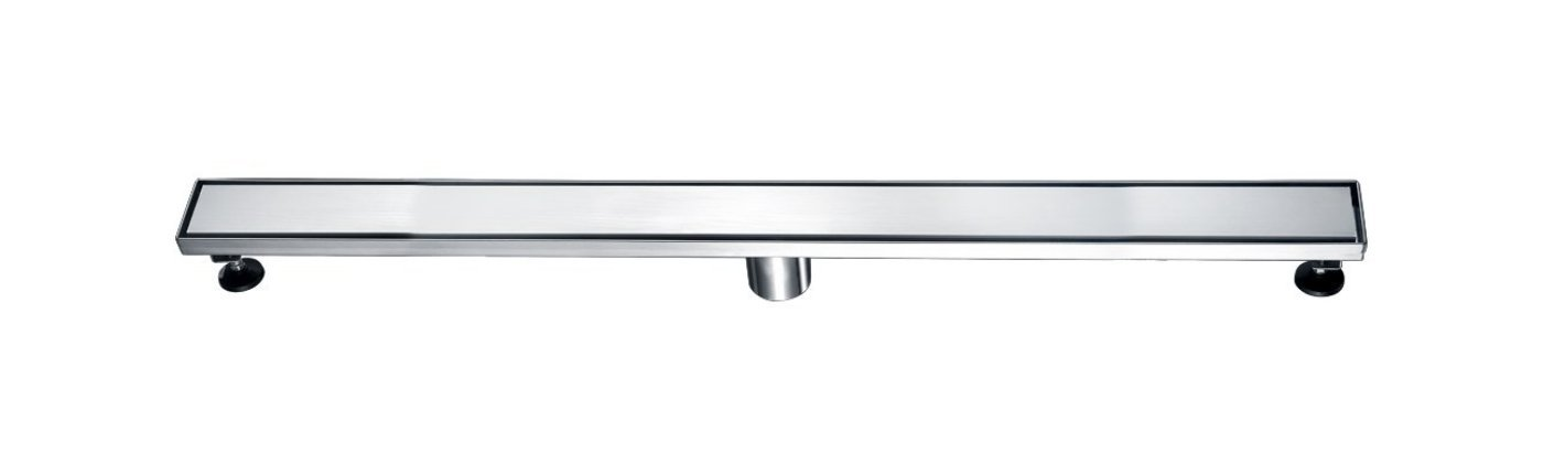 36'' Sierra Linear Shower Drain with Solid Brushed Nickel Stainless Steel Cover. Complete with Drain Assembly. UPC approved