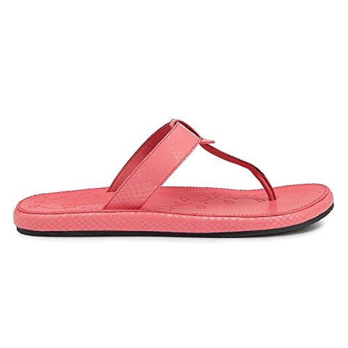 Rockport Women's Zolina Loop Thong Sandal,Salmon Pink Python,7 M US (Thong Sandals Python)