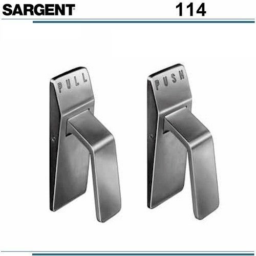 Sargent 114 24-114P R RH Right Hand Hospital Latches for Push-Pull Doors (114 Pull)