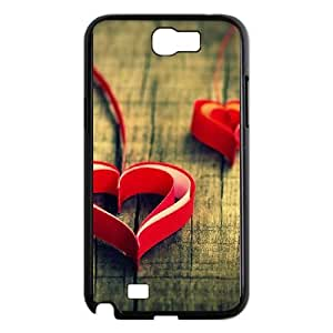 Samsung Galaxy Note 2 7100 Black Cell Phone Case HUBYLW1558 Heart Pattern Phone Case Covers Fashion Generic