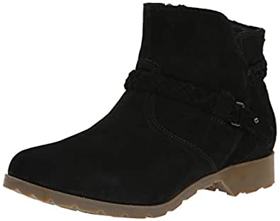 Teva Women's W Delavina Suede Ankle Boot, Black, 5 M US