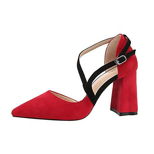 Compensées 3831 7 No 55 55 EU Rouge 5 Femme Red Sandales 36 qEE6X