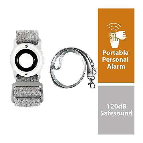 KSEFENCE 2019 - Personal Safety Alarm Flashlight safesound for Women Senior Kids Elderly Hiking Running Better Than Defence Spray Keychain Alarm (White)