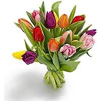 Ramo 15 tulipanes frescos de colores - Ramo de flores naturales a domicilio en 24h - Regalo San Valentín con dedicatoria