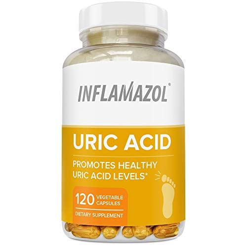 Acid Healthy - Inflamazol Uric Acid Cleanse | Powerful Uric Acid Cleanse to Promote Healthy Uric Acid Levels - Target Associated Pain & Discomfort, Gout, Joint Support - 120 Vegetarian Capsules (1 Bottle)