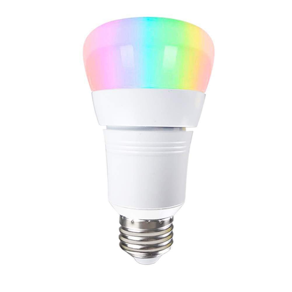 luoOnlineZ Bombilla LED Inteligente WiFi, E27/E14/B22 Foco Inteligente con Control de WiFi, luz LED Colorida de 15 W para Google Home, E27: Amazon.es: Hogar