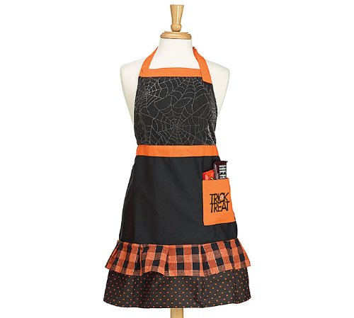 Burton Spider Web with Ruffles Apron Child Size -Hallowee...