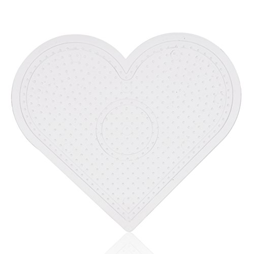 (ARTKAL 2.6mm Mini Beads Small Heart Pegboard Use With Mini Fuse Beads)