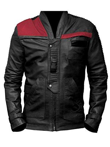 ST Mens Biker Jacket Black n Red Poe