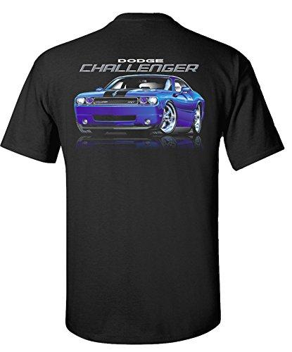 2010 to 2015 Dodge Challenger SRT T-Shirt 100% Cotton Preshrunk Black