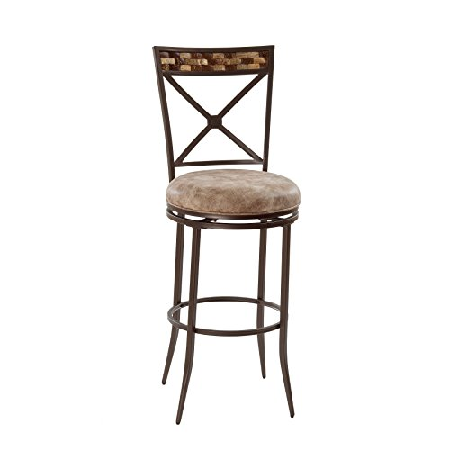 Hillsdale 5594-826 Compton Swivel Counter Stool, Brown