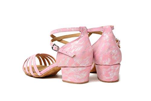 Rose Salon Heel 3 Pink 5cm de femme Danse Minitoo 8qI6A6
