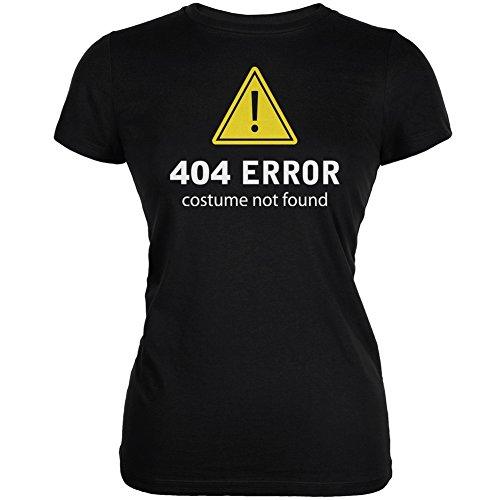 [Halloween 404 Costume Not Found Black Juniors Soft T-Shirt - Large] (Costume Not Found 404)